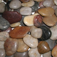 Gravel Stone Natural Polished Black 5Kg / 5-7cm