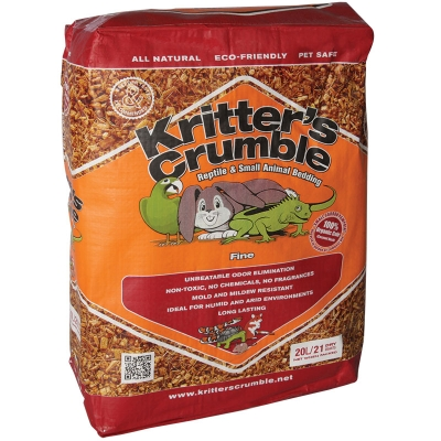 Kritter's Crumble Organic Bedding Substrate FINE 20L