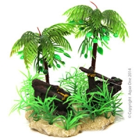 Hermit Crab Palm Tree w/Ship Wreck