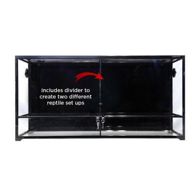RTF-1200HTD Glass Hinged Door Terrarium With Divider